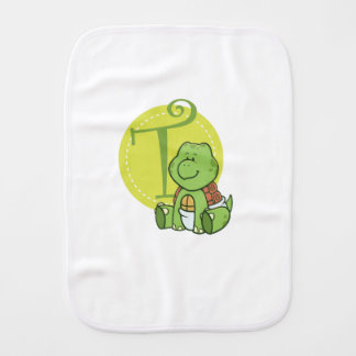 T is for Turtle Burp Cloth