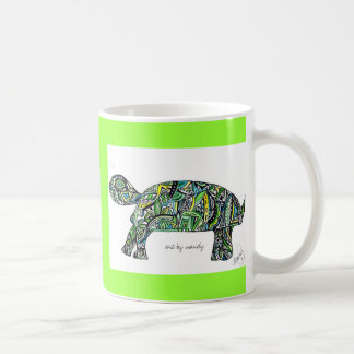 t is for turtle coffee mug
