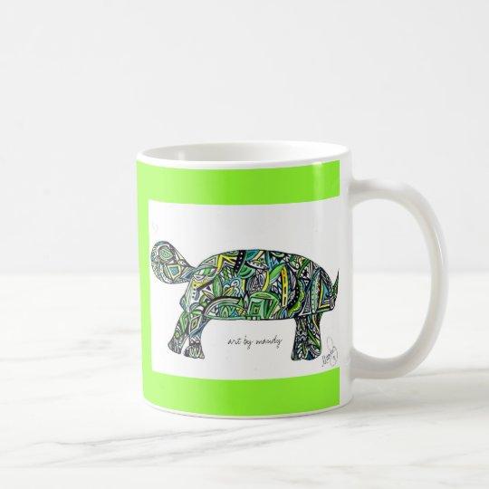 t is for turtle coffee mug