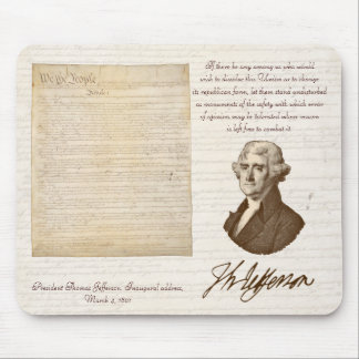 T. Jefferson: Opinion & Reason - Mousepad
