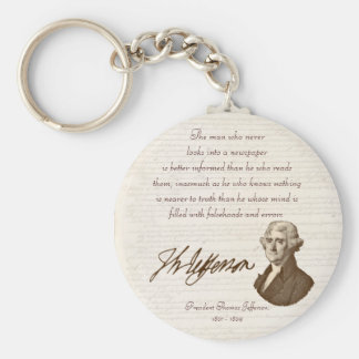 T. Jefferson: Truth & Newspapers - Keychain