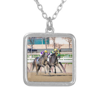 T Loves a Fight #3 Silver Plated Necklace