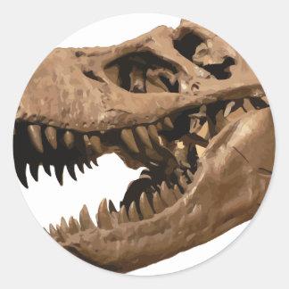 t rex3 classic round sticker
