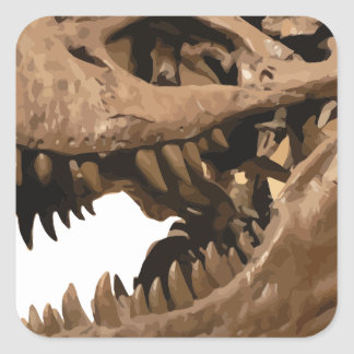 t rex3 square sticker