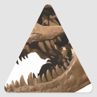 t rex3 triangle sticker