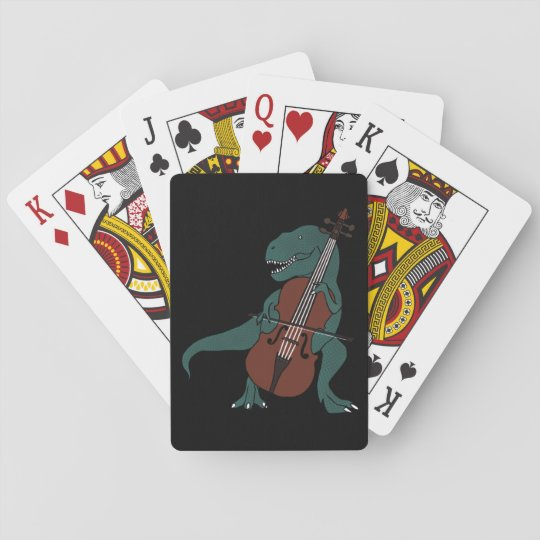 T-Rex Bass Playing Cards