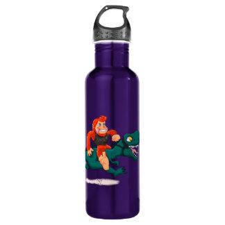 T rex bigfoot-cartoon t rex-cartoon bigfoot 710 ml water bottle