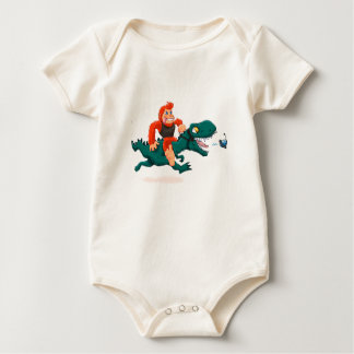 T rex bigfoot-cartoon t rex-cartoon bigfoot baby bodysuit