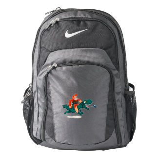 T rex bigfoot-cartoon t rex-cartoon bigfoot backpack