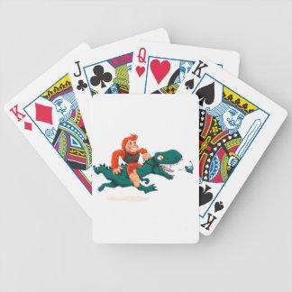 T rex bigfoot-cartoon t rex-cartoon bigfoot bicycle playing cards