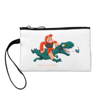 T rex bigfoot-cartoon t rex-cartoon bigfoot coin purse