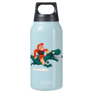 T rex bigfoot-cartoon t rex-cartoon bigfoot insulated water bottle