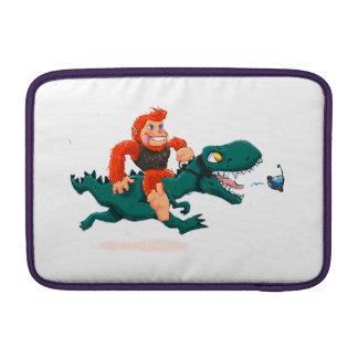 T rex bigfoot-cartoon t rex-cartoon bigfoot MacBook sleeve
