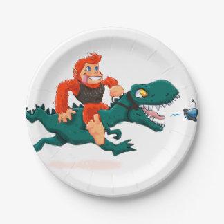 T rex bigfoot-cartoon t rex-cartoon bigfoot paper plate