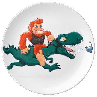 T rex bigfoot-cartoon t rex-cartoon bigfoot plate
