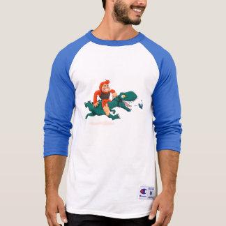 T rex bigfoot-cartoon t rex-cartoon bigfoot T-Shirt