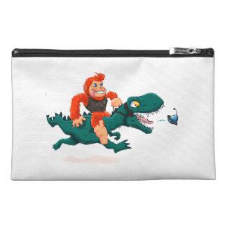 T rex bigfoot-cartoon t rex-cartoon bigfoot travel accessory bag