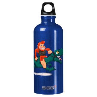 T rex bigfoot-cartoon t rex-cartoon bigfoot water bottle