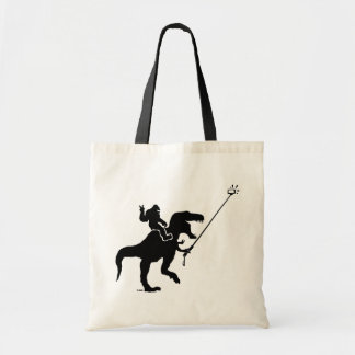T-rex & bigfoot selfie tote bag