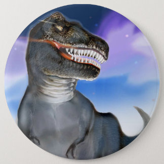 T-rex can badge 6 inch round button