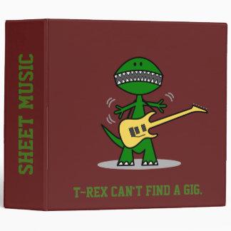 T-Rex can't find a Gig Vinyl Binder