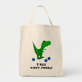 T-Rex Can't Juggle tote Grocery Tote Bag
