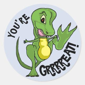 T-Rex Classic Round Sticker