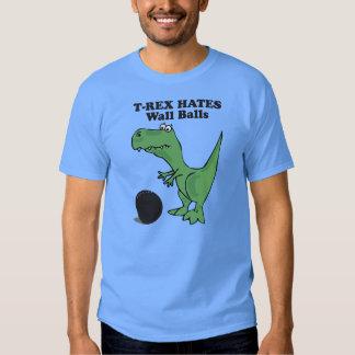 T-rex déteste la boule de mur tee-shirt