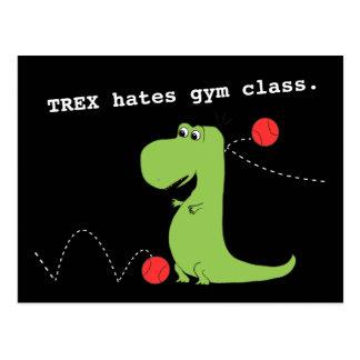 T Rex déteste la carte postale drôle de dinosaure