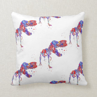 T Rex, Dinosaur, animal art, Dinosaur Throw Pillow