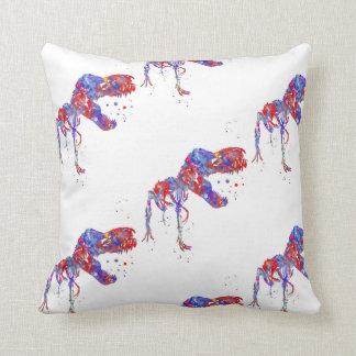 T-Rex, Dinosaur, animal art, T Rex Throw Pillow