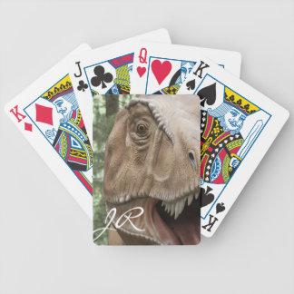 T Rex Dinosaur Bicycle Playing Cards