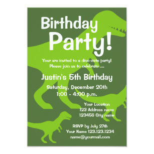 Dinosaur birthday invitations announcements zazzle ca t rex dinosaur birthday party invitations for kids filmwisefo
