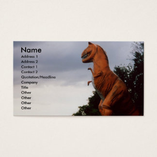 T-Rex Dinosaur Business Card Profile Card photo