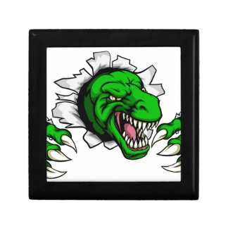 T Rex Dinosaur Clawing Hole in Background Gift Box