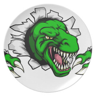 T Rex Dinosaur Clawing Hole in Background Plate