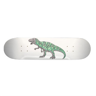 T-Rex Dinosaur Doodle Illustrated Art Custom Skate Board