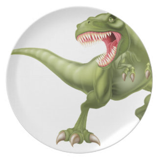 T Rex Dinosaur Illustration Plate