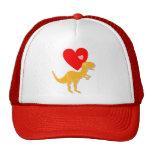 T-Rex Dinosaur Love Hearts Cap Trucker Hat