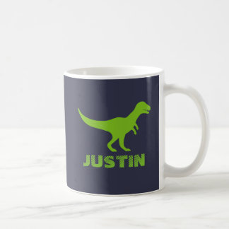 T Rex dinosaur mug personalized with kids name