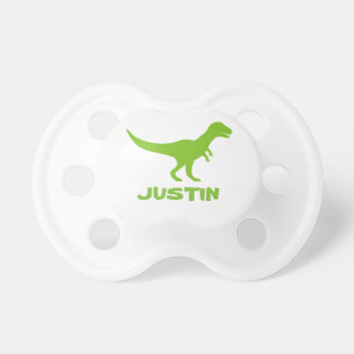 T Rex dinosaur pacifier and personalized kids name