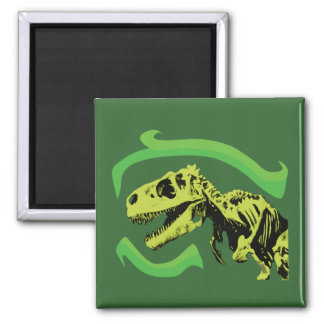 T-Rex Dinosaur Skeleton Square Magnet