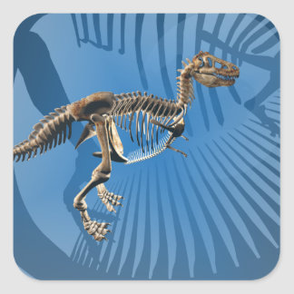 T. rex dinosaur skeleton stickers