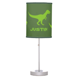 T rex dinosaur table lamp decor for boys bedroom