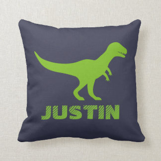 T Rex dinosaur throw pillow personalized for kids