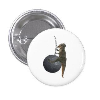 T-Rex Dinosaur Wrecking Ball 1 Inch Round Button