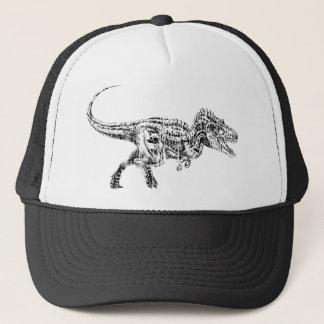 T Rex Distressed Trucker Hat
