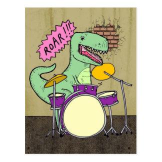 T Rex Drums Postcard