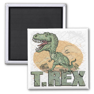 T Rex Gift Ideas by Mudge Studios Square Magnet