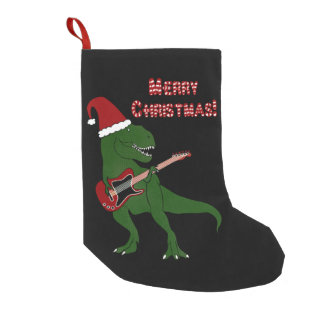 T-Rex Guitar Christmas Small Christmas Stocking